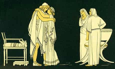 Penelope welcomes her husband Odysseus home