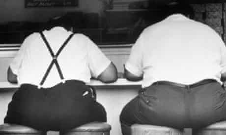 Two Obese Men in a Diner