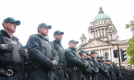 police cordon G8 Summit Belfast
