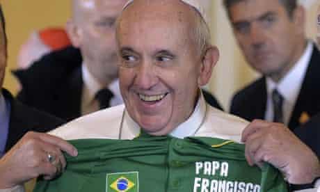 Pope Francis Brazil olympic jersey