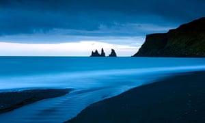 Twilight Reynisdrangar South Iceland