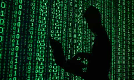 binary man laptop