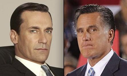 Don Draper and Mitt Romney