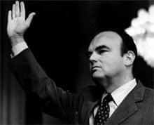 John Ehrlichman, adviser to Nixon, being sworn in the Watergate hearings in 1973