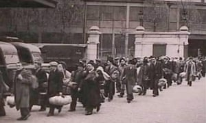 Parisian Jews being rounded up to the Vel d'hiv in 1942