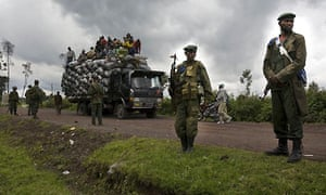 Government soldiers just outside Kibati