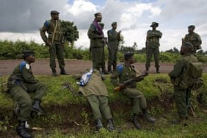 Gallery Conflict in Congo: Government soldiers just outside Kibati