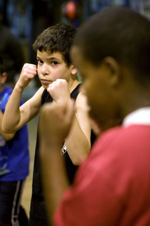 Gallery All Stars Boxing Gym: Young boxers raise their fists