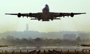Airbus A380 plane on test flight