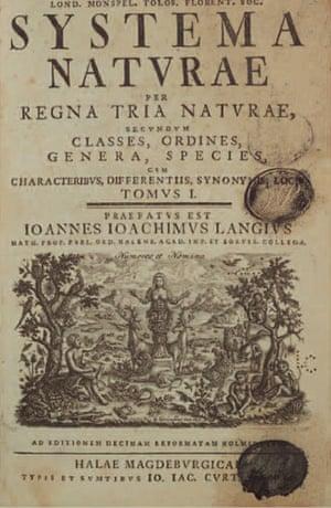 Gallery Darwin gallery: Linnaeus's Systema Naturae