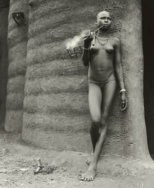 Gallery Tribal Portraits: Benin Woman smoking 1953, by Hector Acebes