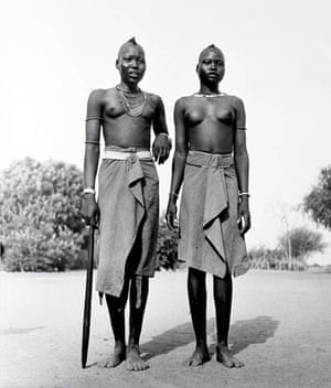 Gallery Tribal Portraits: Africa Dinka girls, 1948 by George Rodger