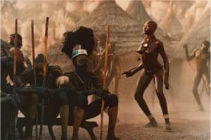 Gallery Tribal Portraits: Nuba dancers of Cau, 1975 by Leni Riefenstahl