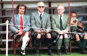 Gallery Great Scots: Billy Connolly and Steve Martin watch the games at the Lonach Gathering