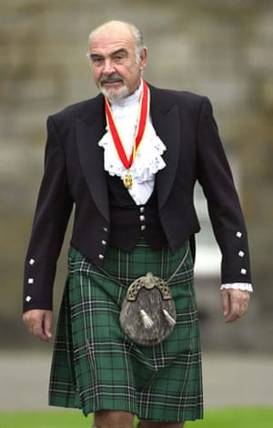 Gallery Great Scots: Sir Sean Connery wearing full highland dress