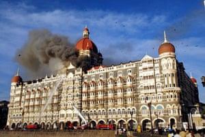 Gallery Mumbai terror attacks: smoke rises from the Taj hotel building in Mumbai