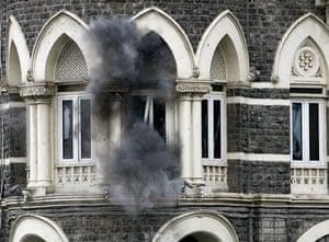 Gallery mumbai update: Smoke billows from a room in Taj Hotel