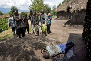 Gallery Congo conflict: The body of one of two people allegedly shot by rebel soldiers