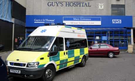 Ambulance at Guy's hospital