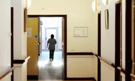 Nurse in a hospital corridor