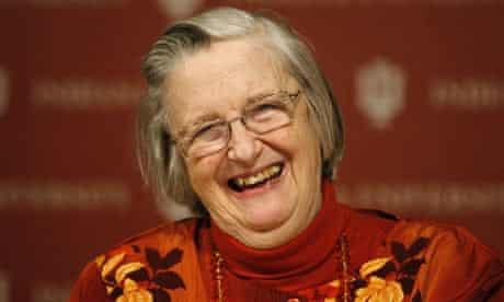 Elinor Ostrom celebrates winning the Nobel Prize in economics