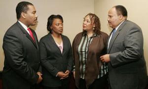 Dexter Scott King, Rev Bernice King, Yolanda King and Martin Luther King III in Atlanta