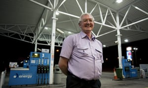 Chris Evans, manager of a 24 hour petrol station