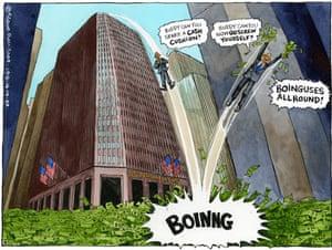 16.10.09: Steve bell on Goldman Sachs' bumper bonus