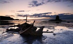 Saltwick Bay at dusk