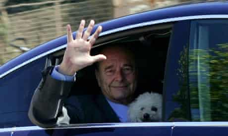 Jacques Chirac with his dog