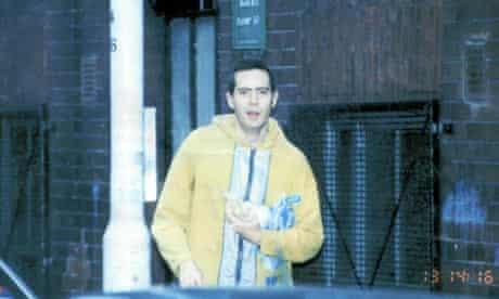 A snapshot of prptester Matt Salusbury taken secretly by the Met police