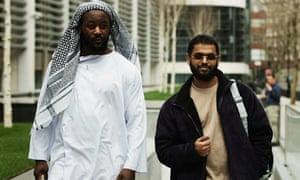 Former Guantanamo detainees Martin Mubanga, left,  and Moazzam Begg