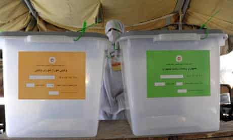 Polling station in Afghanistan