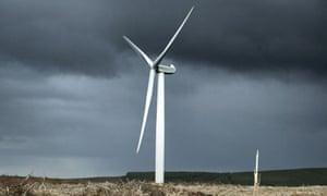 Wind turbine, Tory Britain