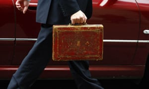 the red Budget box, Tory Britain