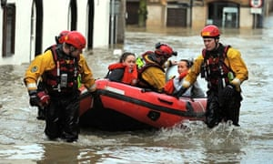 Cumbria floods: Cockermouth residents rescued
