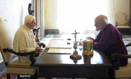 The pope and the archbishop of Canterbury at the Vatican