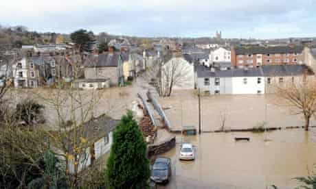 Cockermouth submerged in flood water, 20 Nov 2009