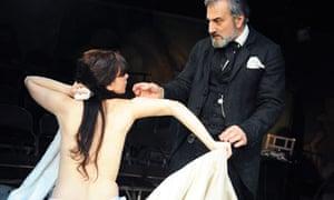 Sarah Smart and Henry Goodman in Timberlake Wertenbaker's The Line