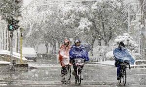 Snowfall in Beijing that scientists claim is their own work, November 2009
