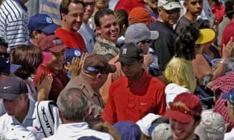 Tiger Woods on the course in 2005