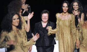 Carmen Colle, head of World Tricot, with models wearing her Angèle Batist clothes