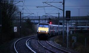 Train on East Coast Mainline