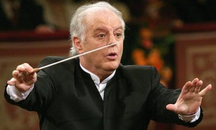 Daniel Barenboim conducting the Vienna Philharmonic Orchestra