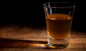 A shot of rum