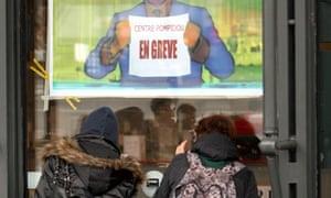 Visitors to the Pompidou Centre in Paris found it shut
