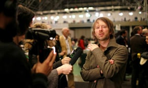 Thom Yorke at the United Nations Climate Change Conference, Copenhagen, Denmark - 18 Dec 2009