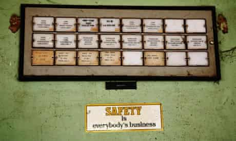 Safety slogans at the Union Carbide factory Bhopal