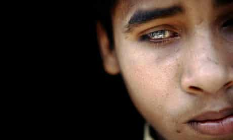 Thirteen-year-old Salman who lives near the Union Carbide factory in Bhopal