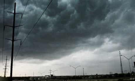 Clouds roll over Oklahoma City, Okla